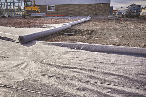 Non Woven Geotextile fleece used as a filtration and separation layer