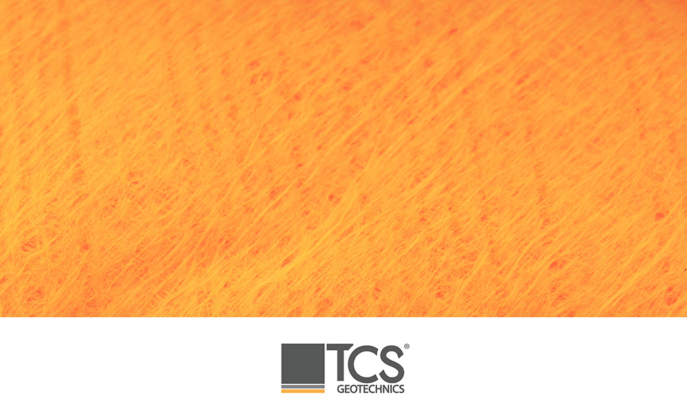 TS1000 Orange High Visibility Non Woven Geotexile