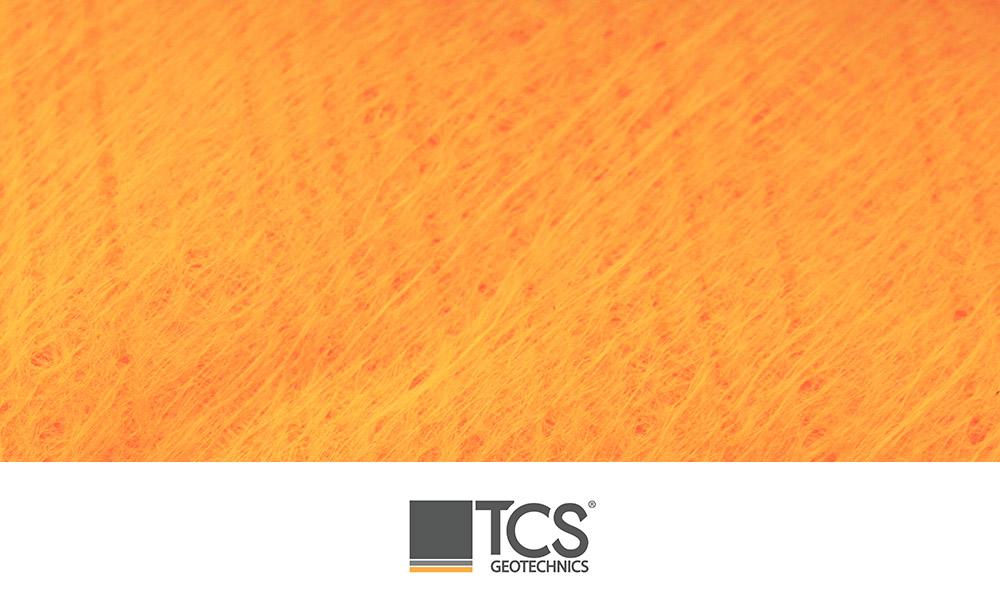 TS1000 Orange High Visibility Non Woven Geotexile
