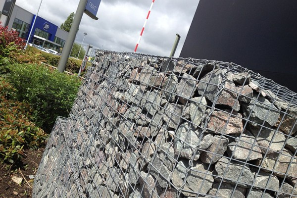 Wire mesh Gabion baskets with rock infills