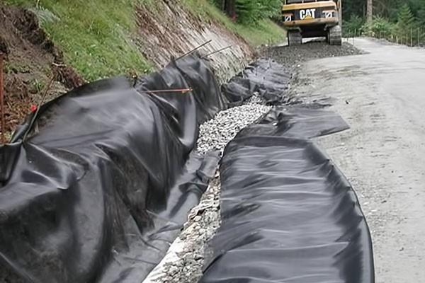 Highflow textile installed on site
