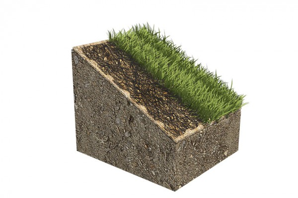 Permanent erosion control mat diagram
