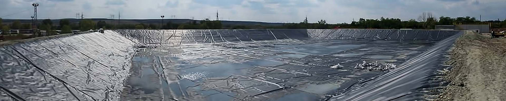 TCS Geomembrane liners for pond and lake lining and also attenuation wrapping