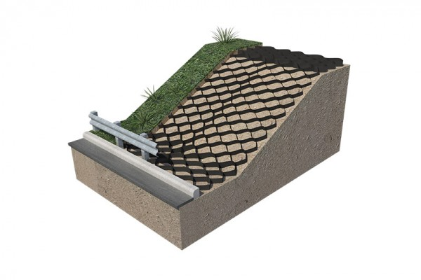 Use TECHCELL for slope protection and reinforcement