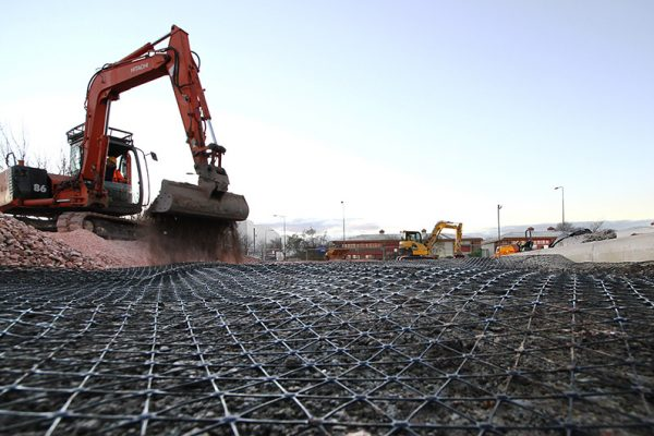 Wide shot of Tensar Triax Supplied by TCS Geotechnics