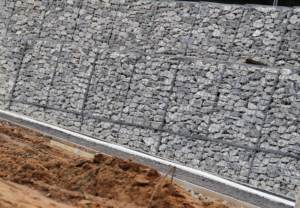 Tcs geotechnics home of ground stabilisation products Gabion wall design