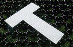 T-shaped bodpave Car park bay marker