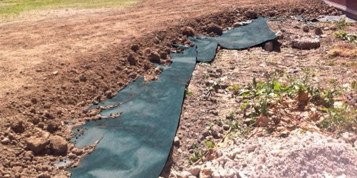 du pont plantex gold installed in the ground