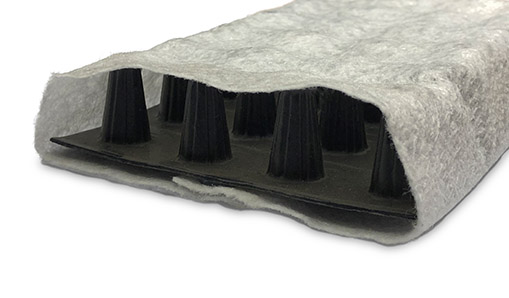tcs findrain geocomposite drainage product on white background