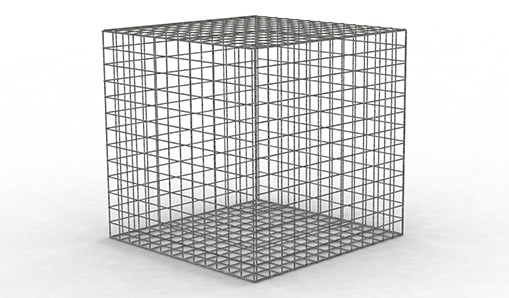 tcs wire mesh gabion product render on white background