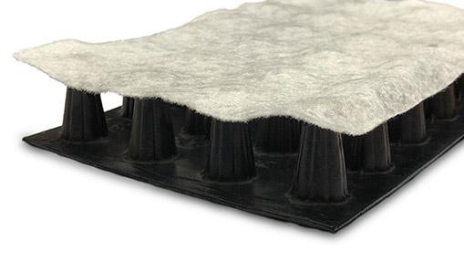 techdrain geocomposite drainage product on white background