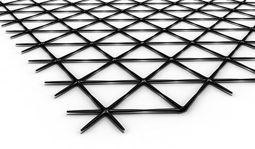 tensar triax geogrid on white background